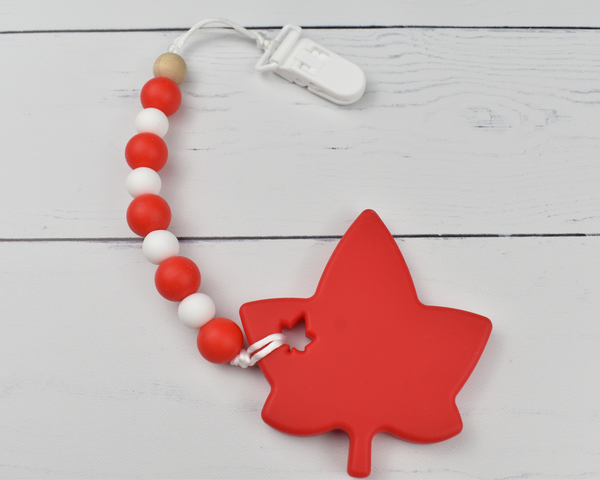 Maple Leaf Silicone Baby Teether