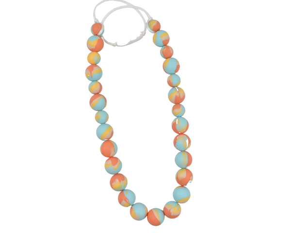 Spring Orange Tie Dye Kid Necklace