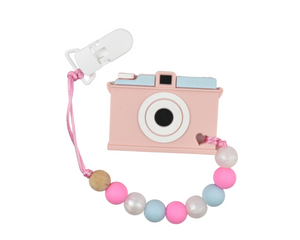 Camera Silicone Baby Teether - Multiple Colours Available