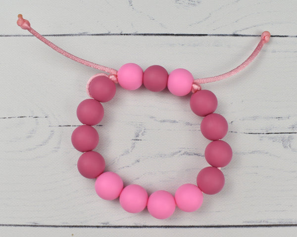 Adjustable Silicone Kid Bracelets - Pinks