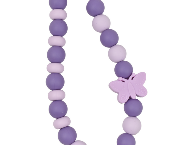Spring Purple Butterfly Necklace