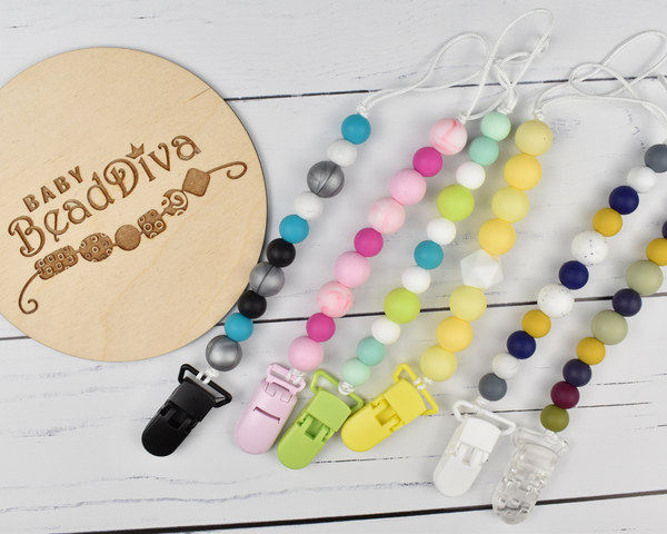 Silicone Soother Clips - Multiple Colours Available