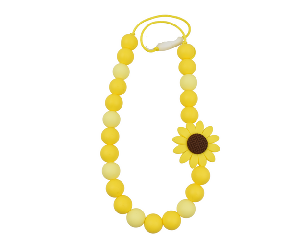 Spring Yellow Sunflower Kid Necklace