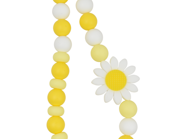 Spring White Sunflower Kid Necklace