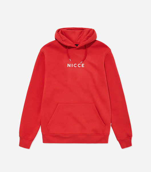 NICCE Mens Original Centre Logo Hood | Red