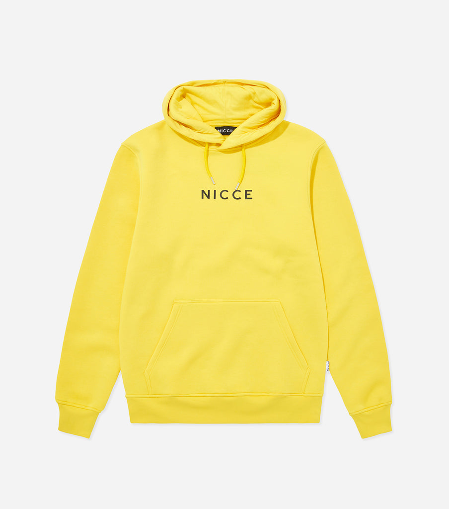 NICCE Mens Original Centre Logo Hood | Yellow, Hoodies