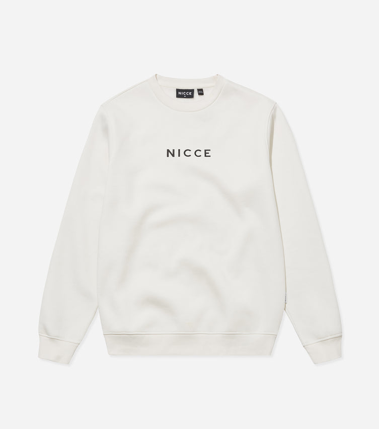 Nicce Mens Centre Logo Sweat | Ecru