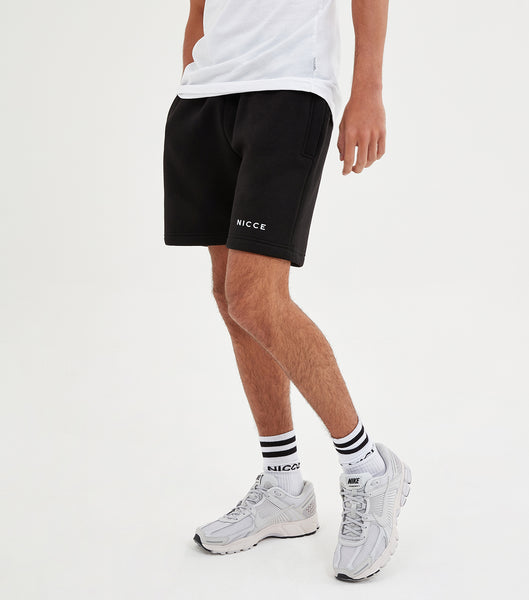 NICCE Mens Original Logo Jog Shorts | Black, Shorts