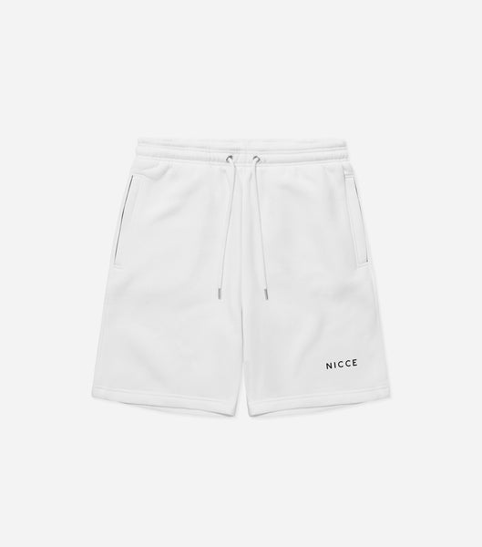 NICCE Mens Original Logo Jog Shorts | White, Shorts