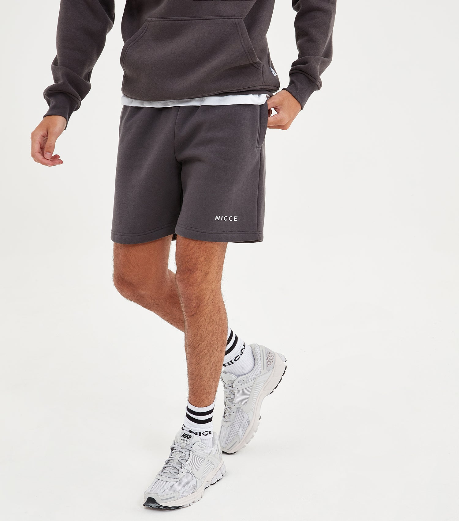 NICCE Mens Original Logo Jog Shorts | Coal, Shorts