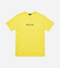 Original center logo t-shirt in yellow. Featuring crew neck, short sleeves, curved hem and printed centre chest logo. Pair with joggers.