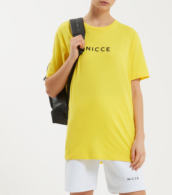 NICCE Womens Original Centre Logo T-Shirt | Yellow