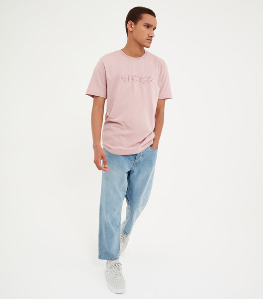 Nicce Mens Mercury T-Shirt | Sunset Pink