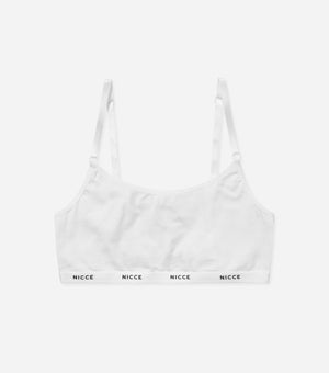NICCE Womens Strappy Bra Top | White, Underwear