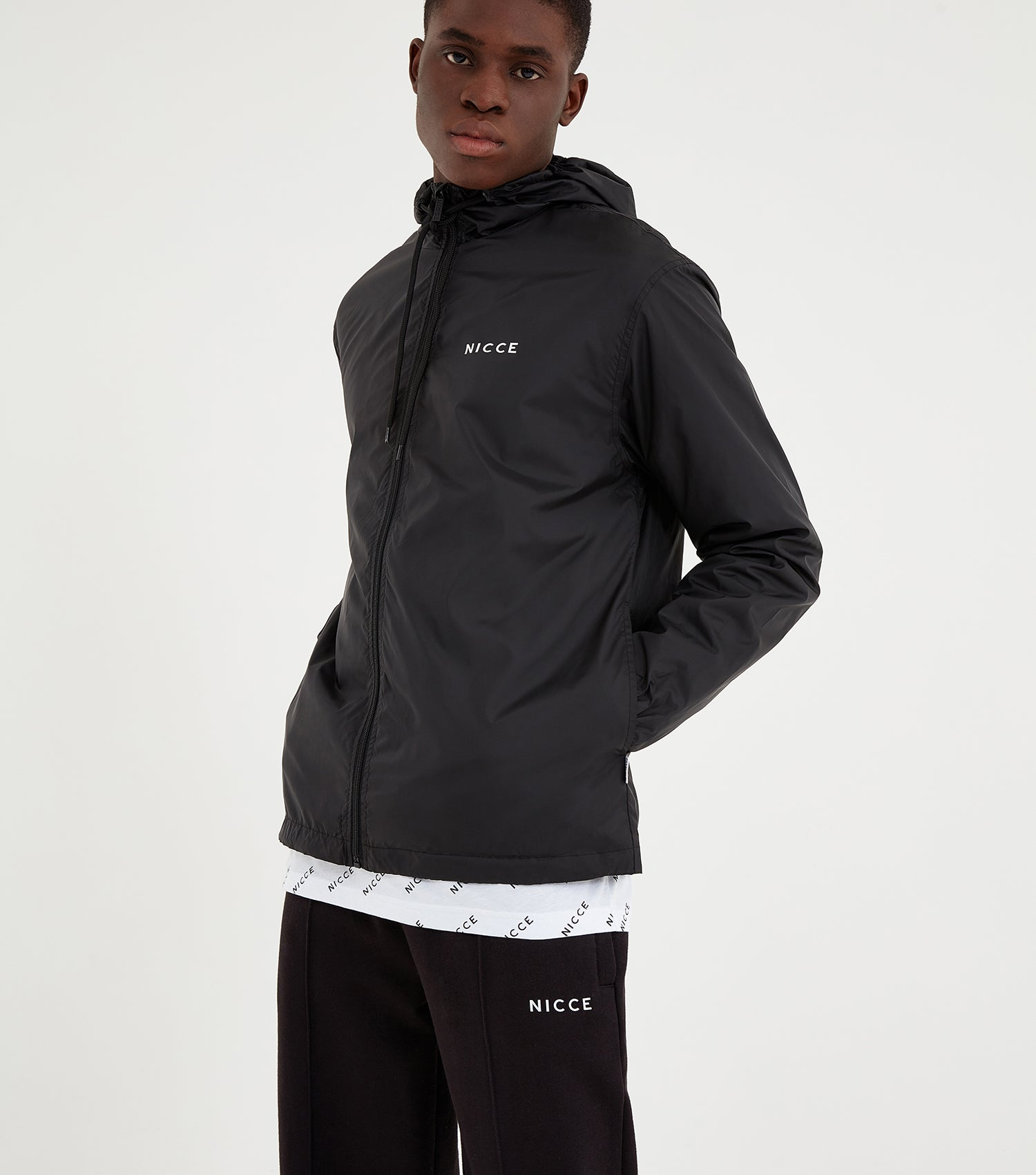 NICCE Mens Core Windbreaker | Black, Outerwear