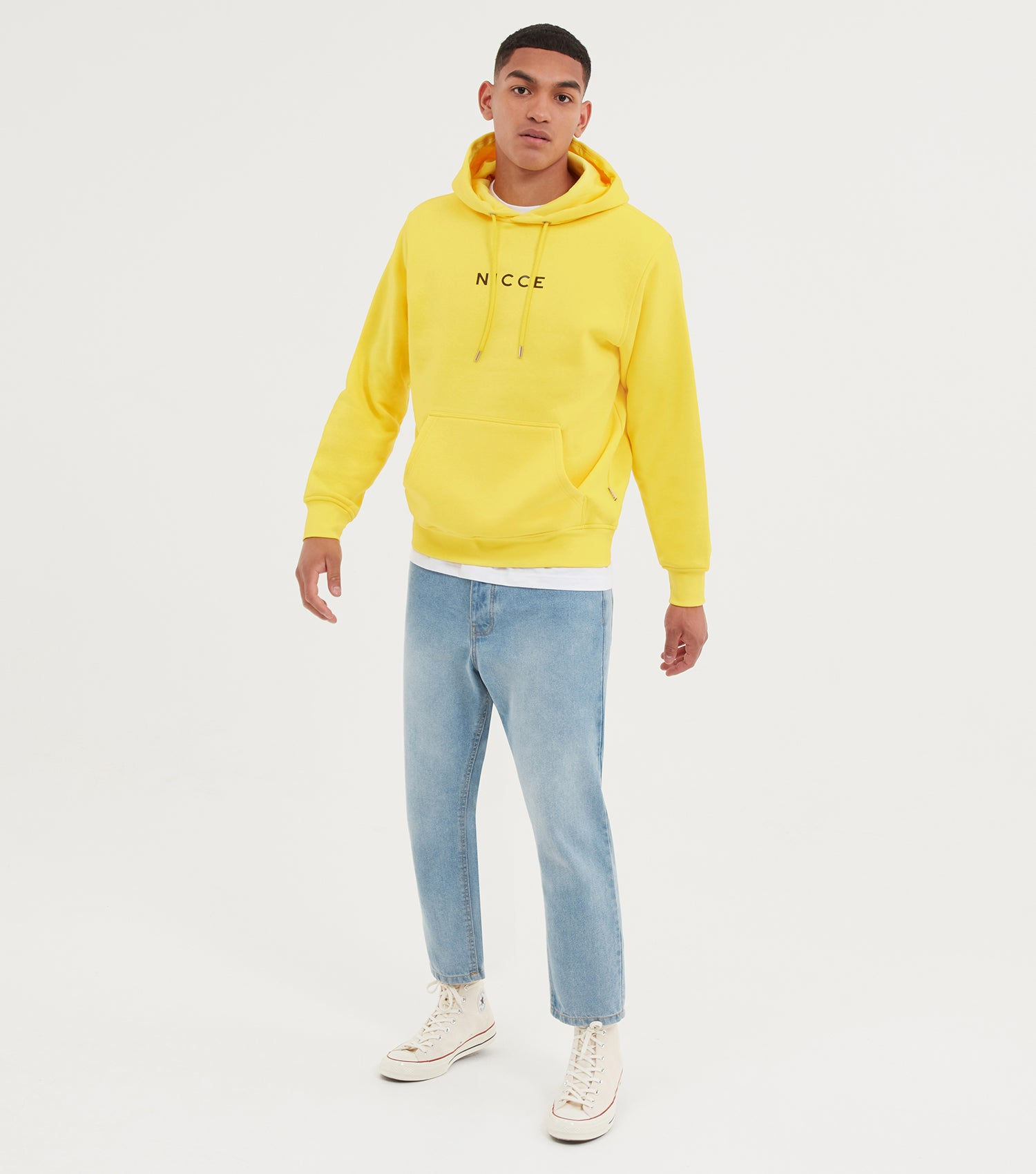 NICCE Mens Centre Logo Hood | Vibrant Yellow, Hoodies