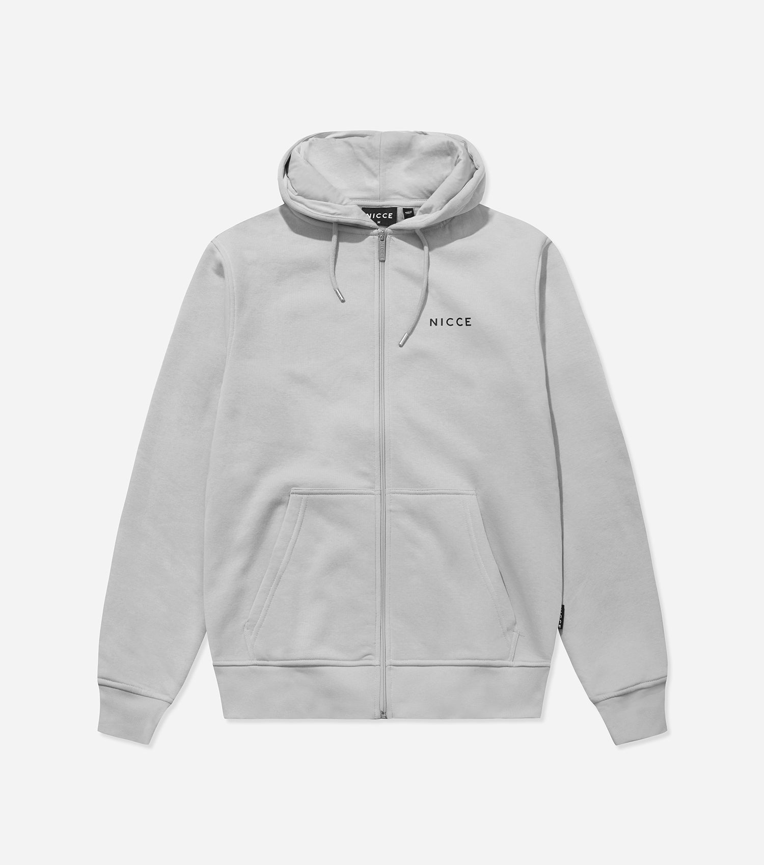 NICCE Mens Zip Thru Hood | Stone Grey, Hoodies