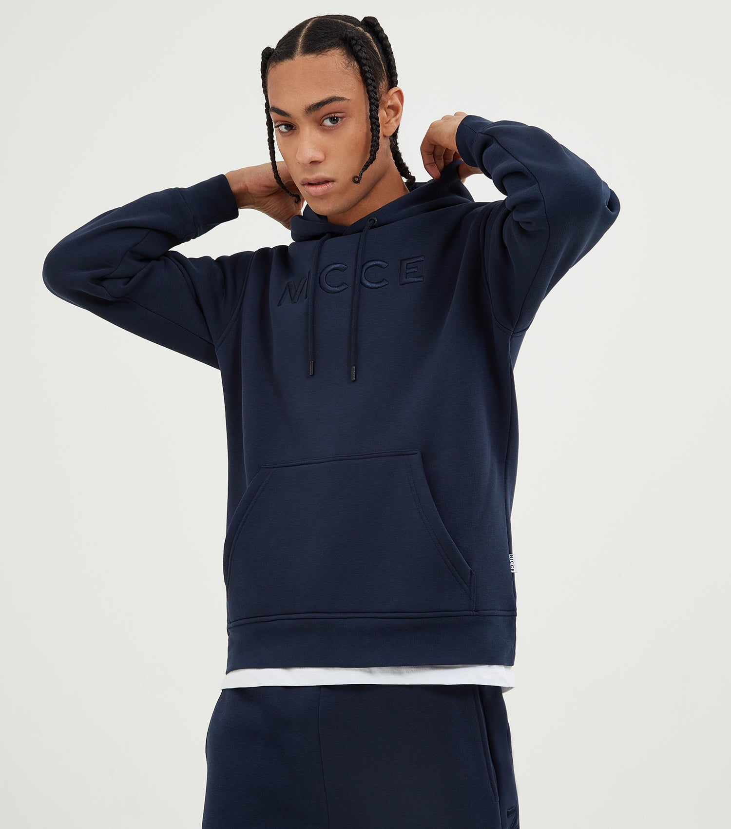 Nicce Mens Mercury Hood | Deep Navy, Hoodies