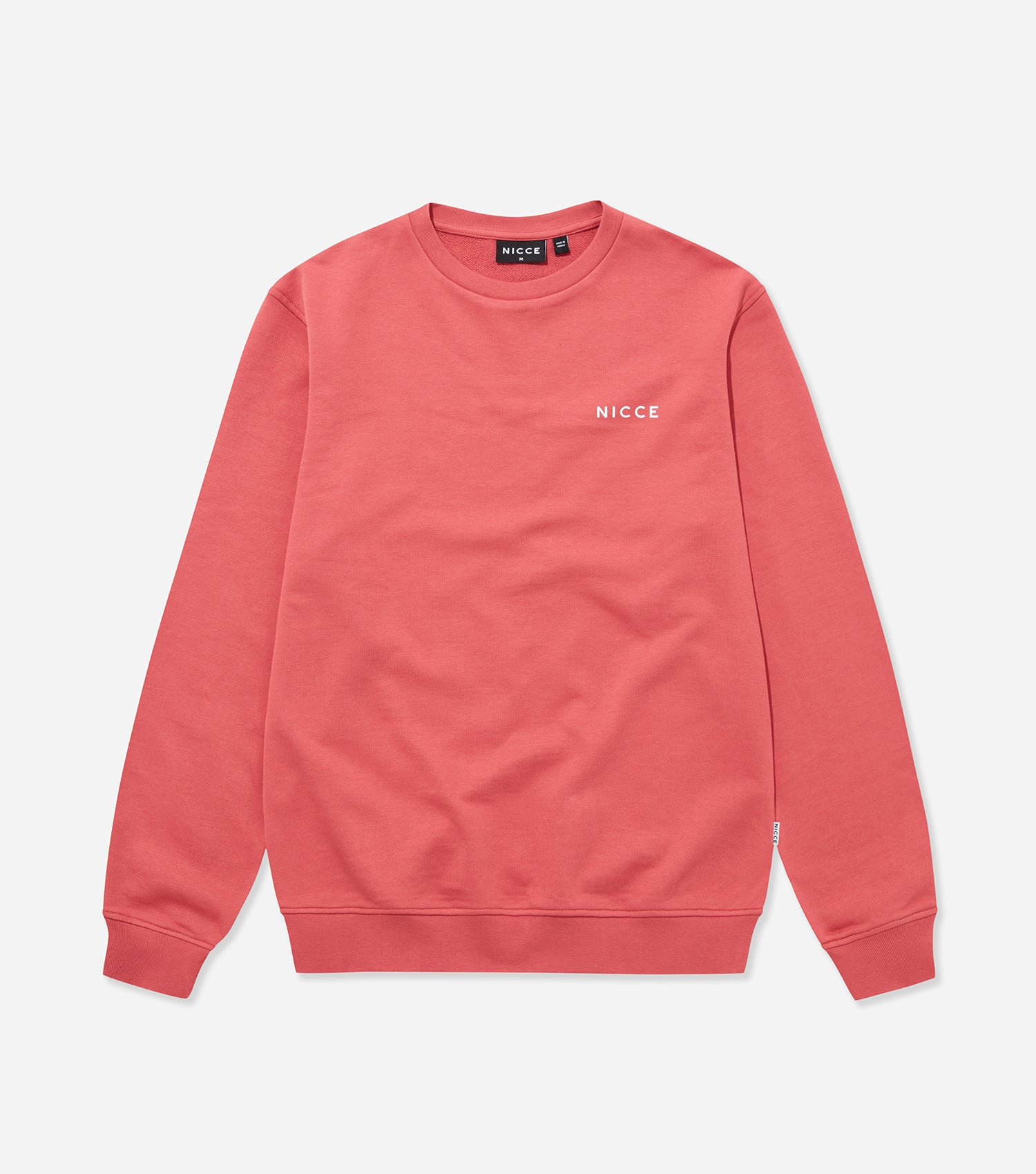 NICCE Mens Loopback Chest Logo Sweat | Holly Berry, Sweatshirts