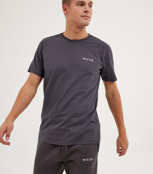 NICCE Mens Original Chest Logo T-Shirt | Coal, T-Shirts