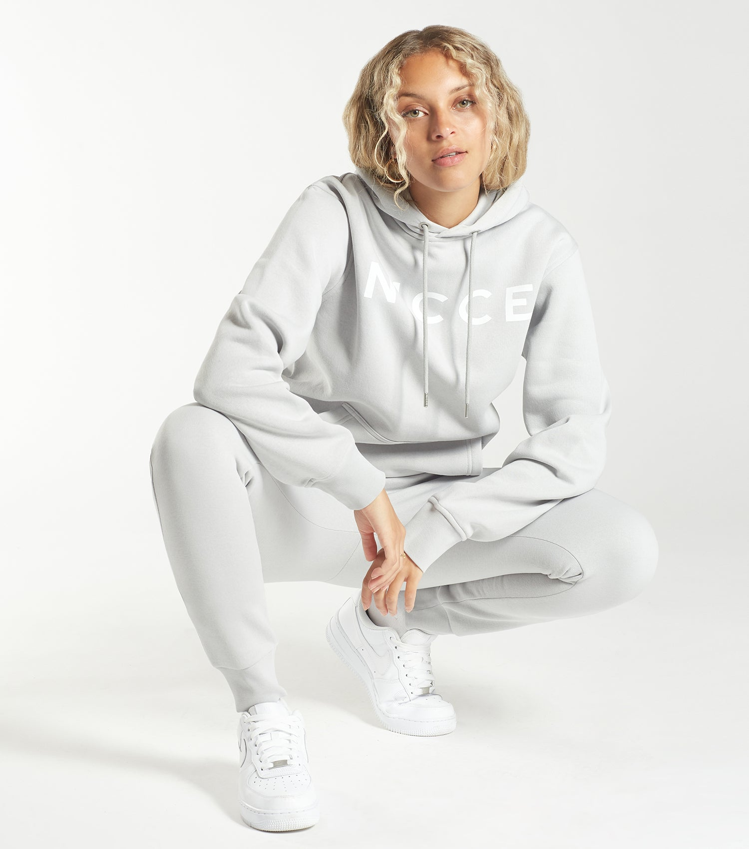 NICCE Womens Original Logo Joggers | Micro-Chip Grey, Joggers
