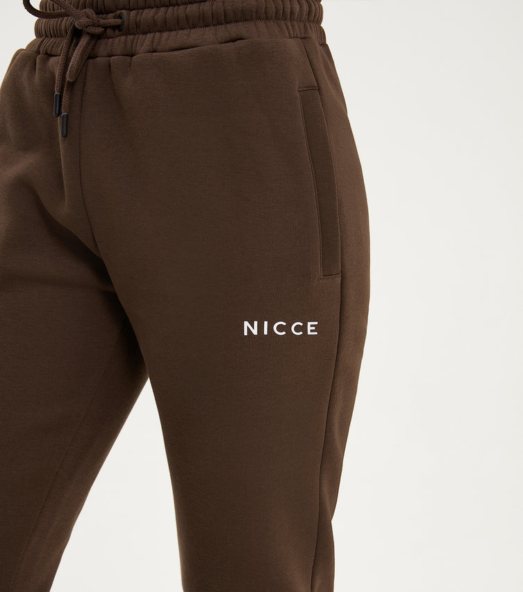 Nicce Womens Original Logo Joggers | Brown