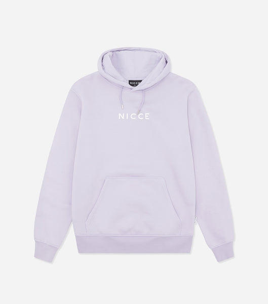 Nicce Mens Centre Logo Hood | Lilac, Hoodies