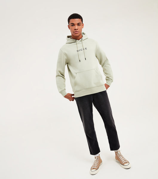 Nicce Mens Original Centre Logo Hood | Sage Green