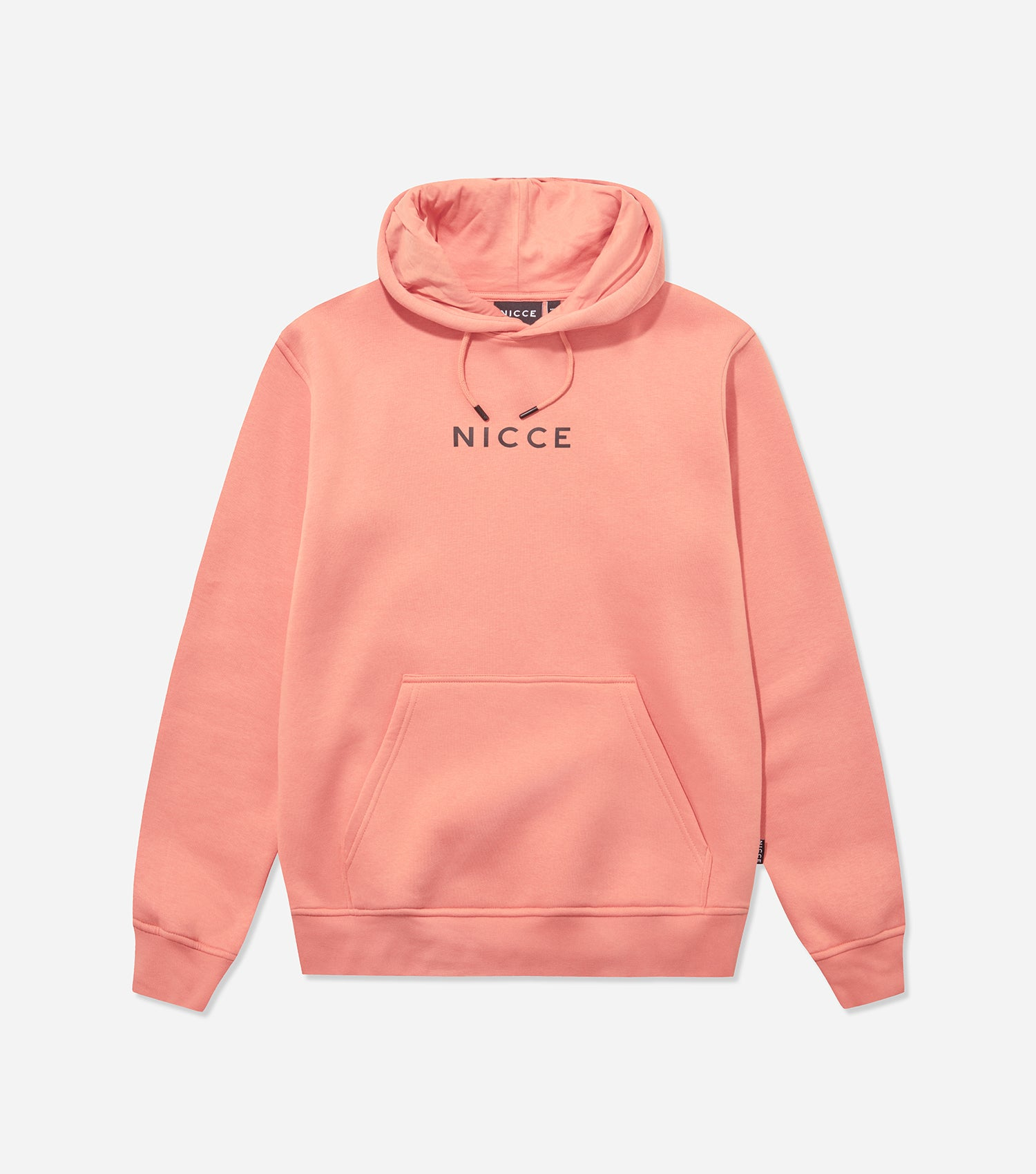 Nicce Mens Original Centre Logo Hood | Clay Pink