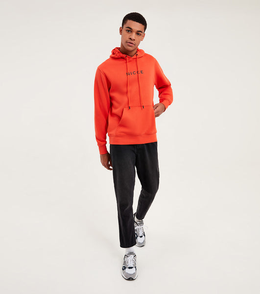Nicce Mens Original Centre Logo Hood | Fiesta Red