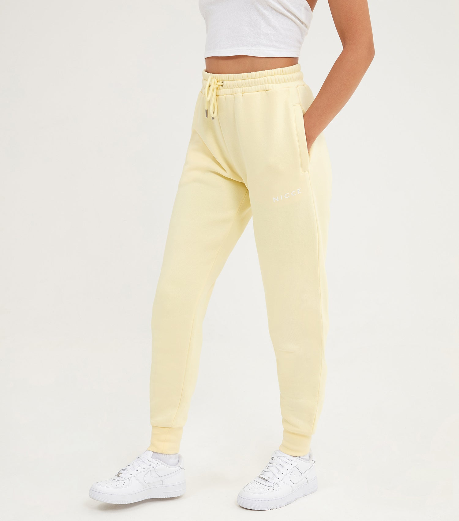 NICCE Womens Original Logo Jogger | Pastel Yellow