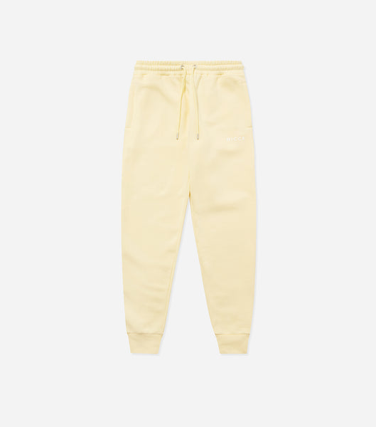 NICCE Womens Original Logo Joggers | Pastel Yellow