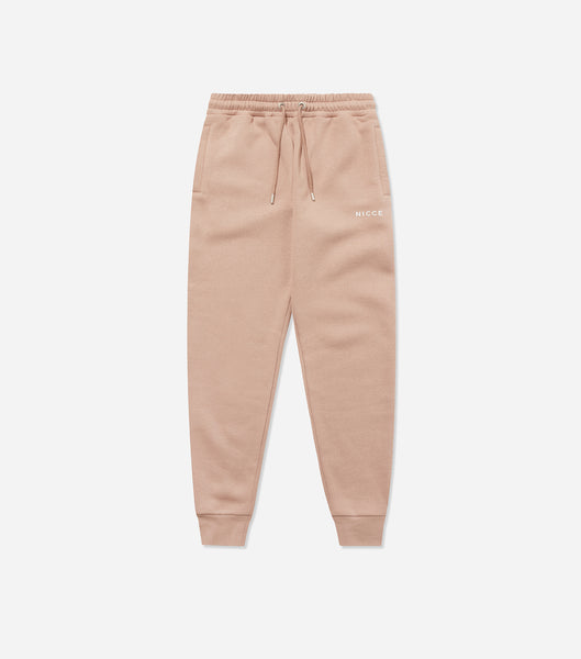 NICCE Womens Original Logo Joggers | Warm Taupe