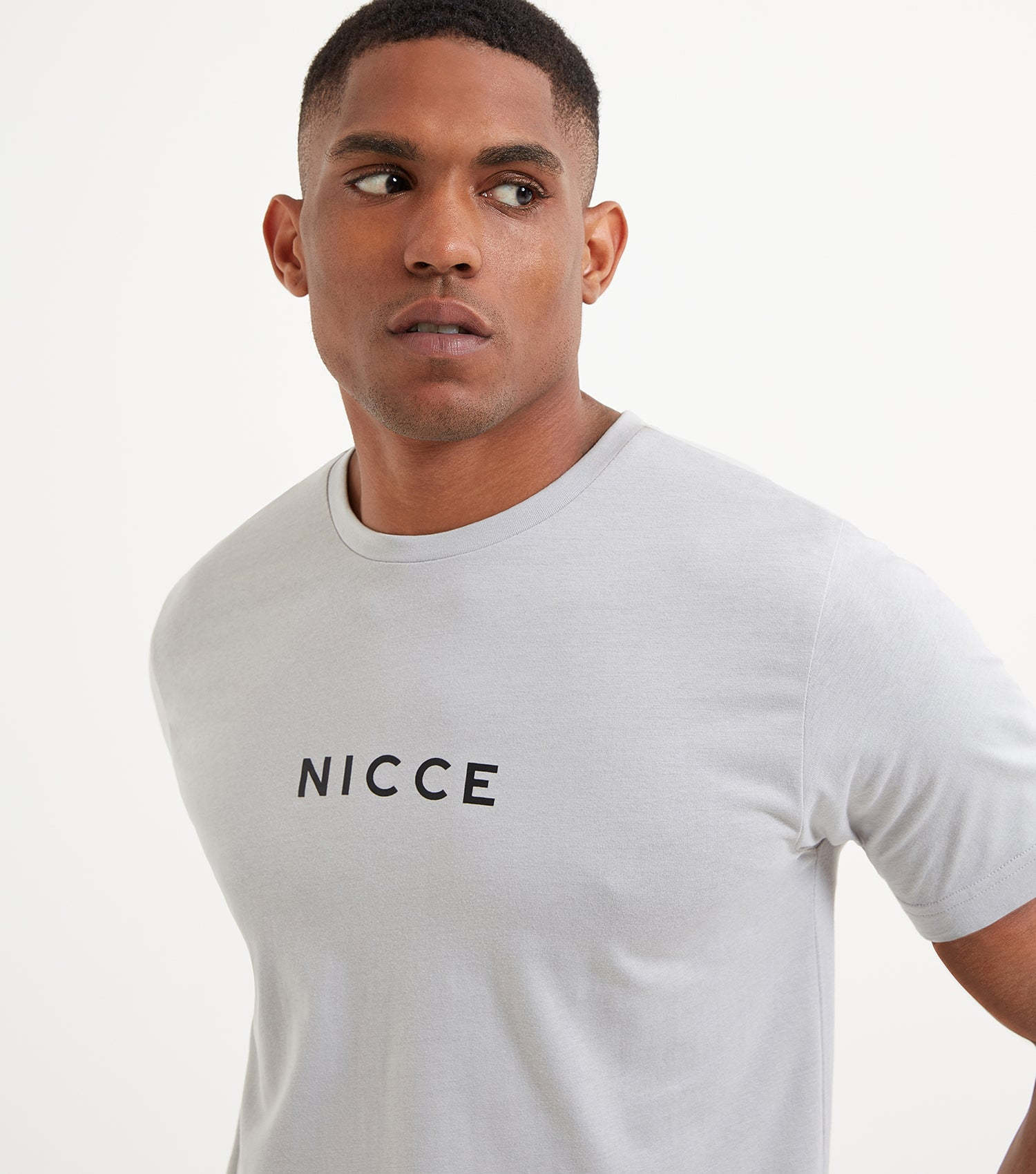 NICCE Mens Centre Logo T-Shirt | Stone Grey, T-Shirts