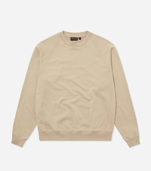 Nicce Mens Essentials Sweat | Taupe