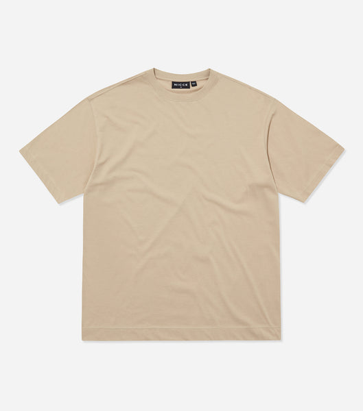 Nicce Mens Essentials T-Shirt | Taupe