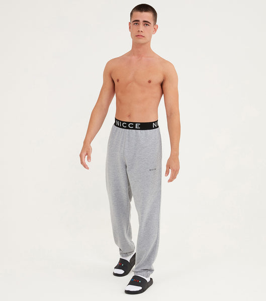 Nicce Mens Couch Joggers I Mid Grey Marl