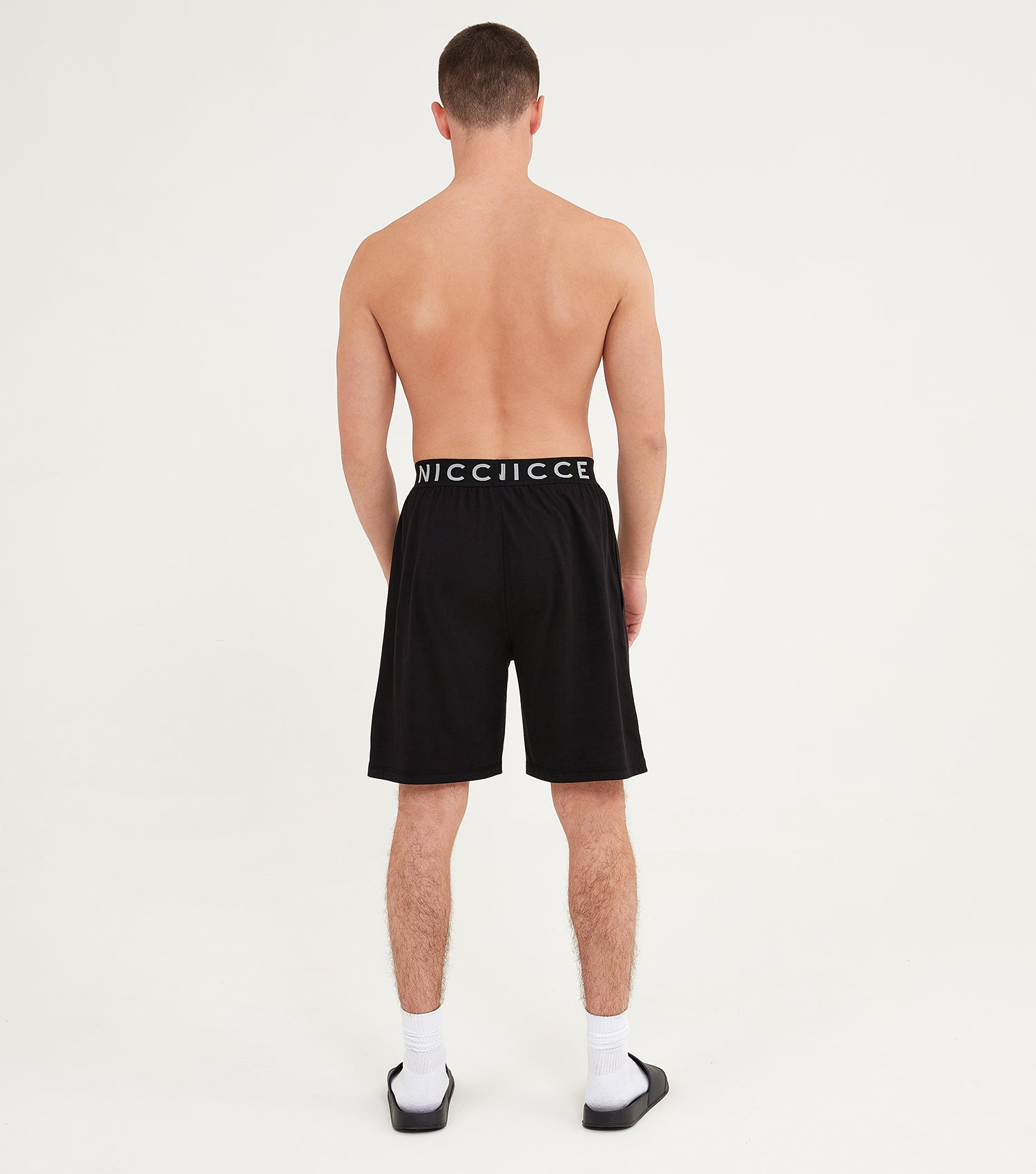 Nicce Mens Sofa Shorts I Black