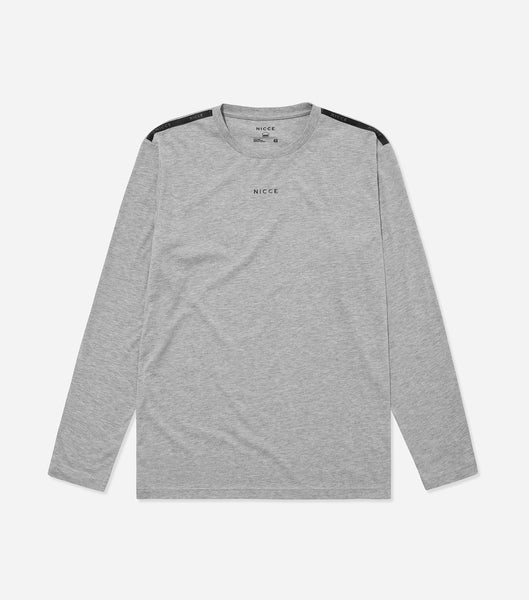 Nicce Mens Sofa LS T-Shirt I Mid Grey Marl