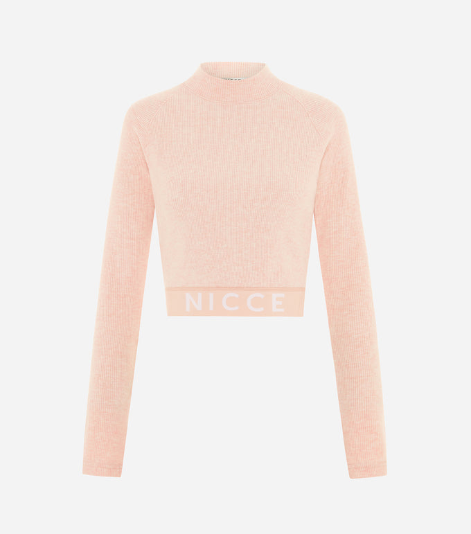 Nicce Womens Lull LS Top | Dusty Pink Marl