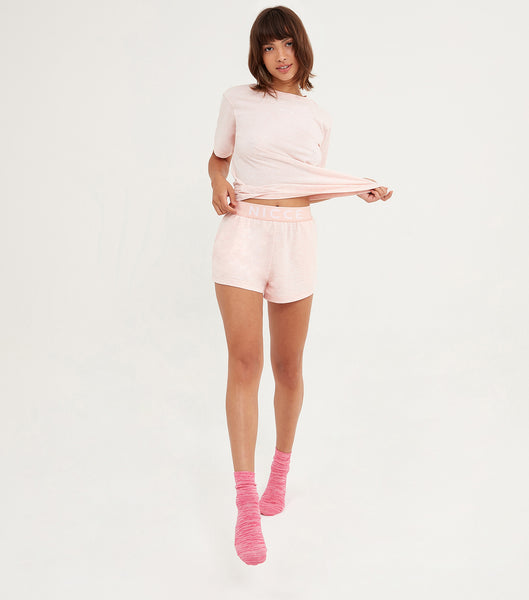 Nicce Womens Mysa Shorts | Dusty Pink Marl