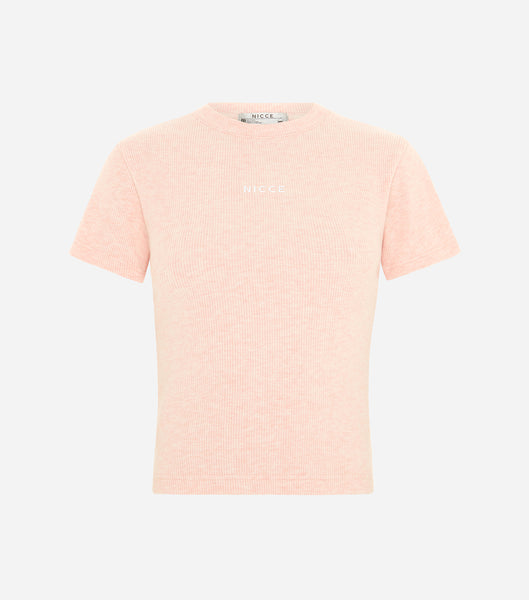 Nicce Womens Lull SS Tee | Dusty Pink Marl