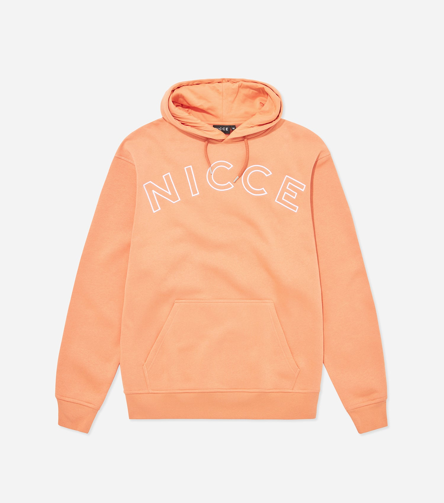 63879709971b Bower hood in coral. Featuring relaxed fit, overhead hood and large front  embroidery logo