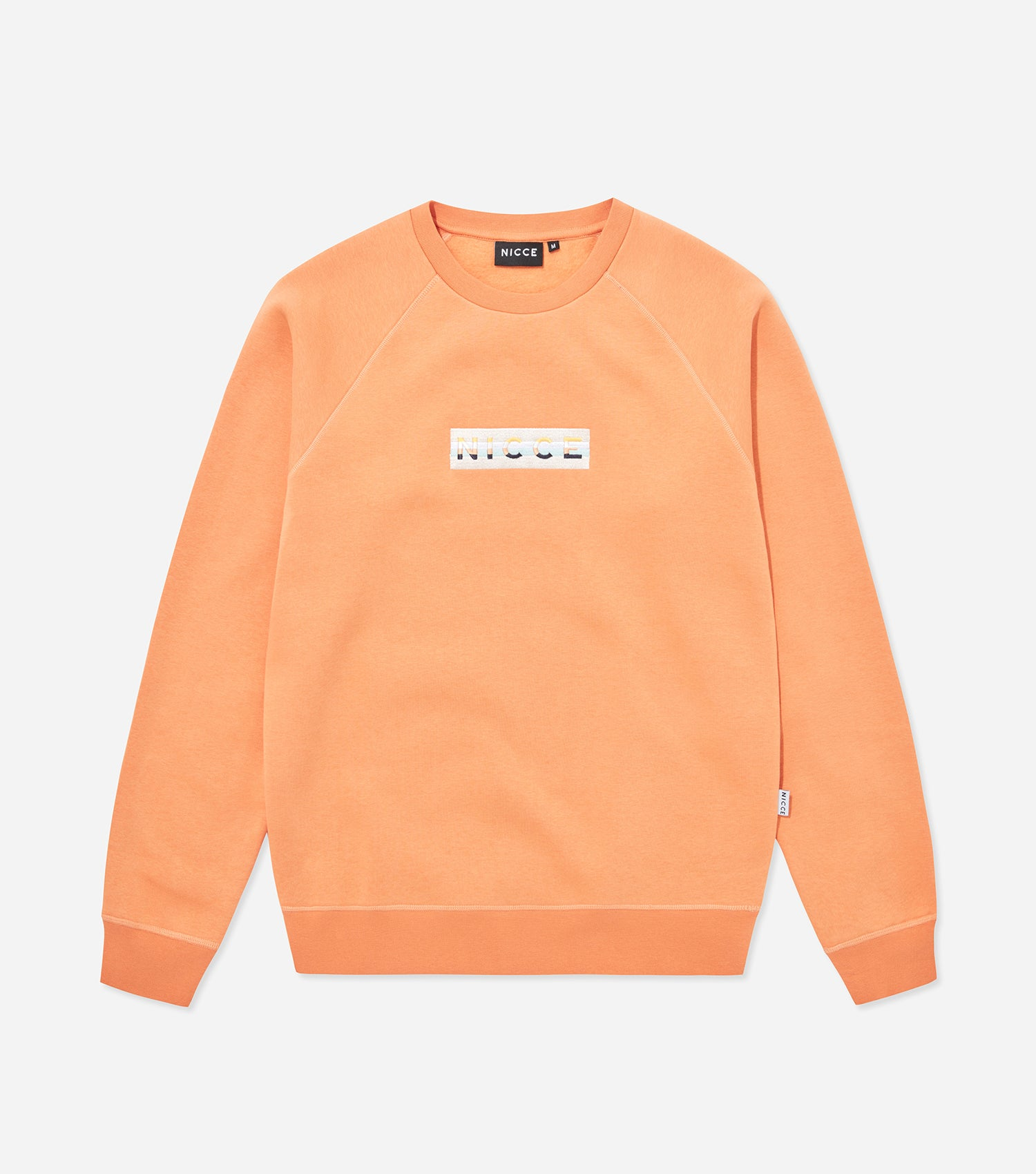 Hyam sweatshirt in coral. Featuring 90s five colour box embroidery logo,  crew neck and 44c50b9fdb5e