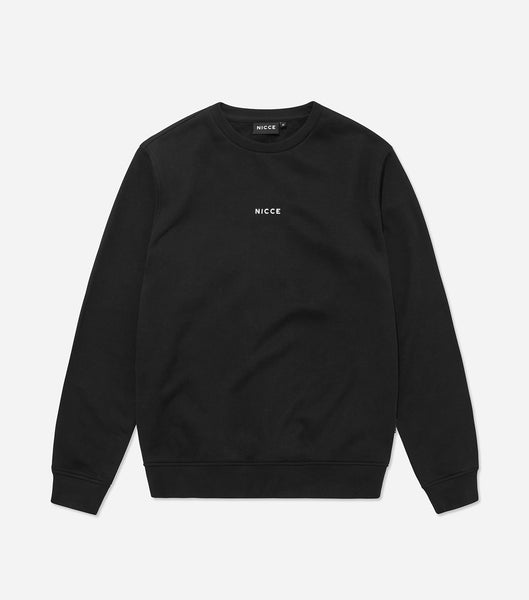 NICCE Mens Mini Centre Logo Sweat | Black