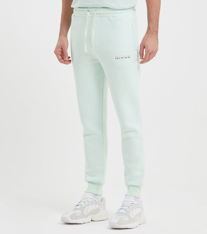 Hyam joggers in mint. Featuring regular fit, embroidered branding, elasticated waistband and cuffs. Pair with matching hood or tee.