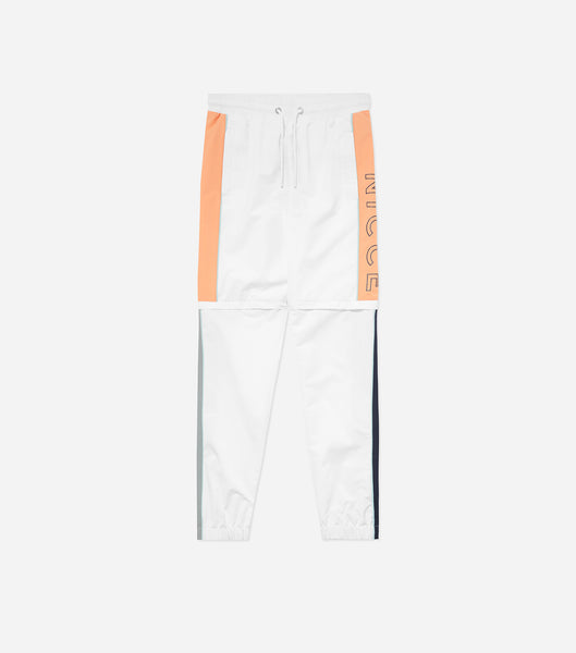 Limited Edition copa track pants in coral, deep navy and white. Featuring track pant with colour block design, large branding, zip off knee to create shorts. Pair with limited edition hood or jacket.