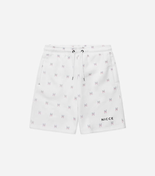 Motif jog shorts in black. Featuring elasticated waistband, printed repeat logo and pockets. Pair with motif sweatshirt or hood.