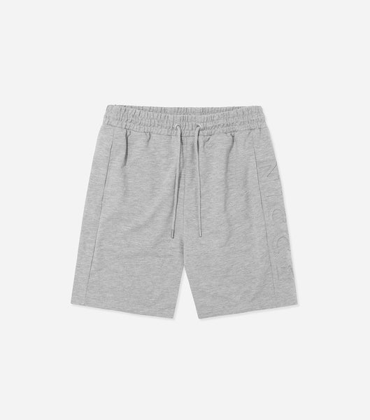 Nicce Mens Patriot Emboss Shorts | Light Grey Marl, Shorts