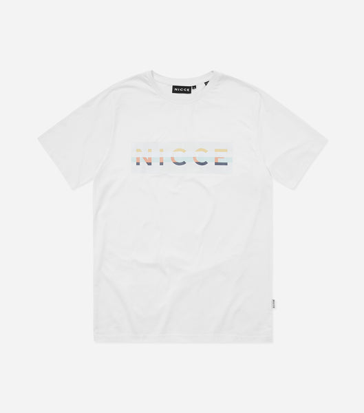 NICCE Mens Hyam Large Logo T-Shirt | White
